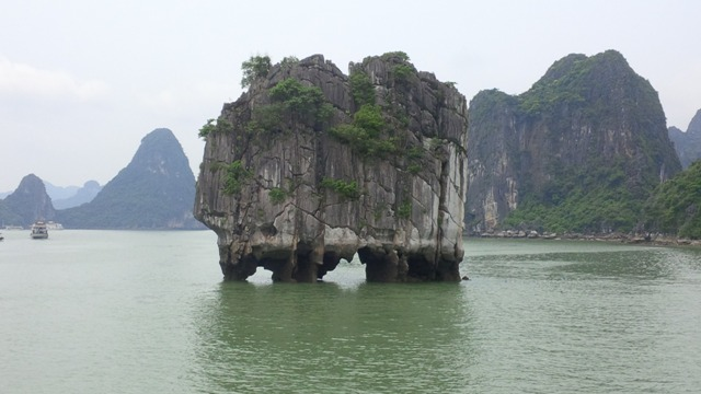 Dinh Huong Island in unique shape in Halong